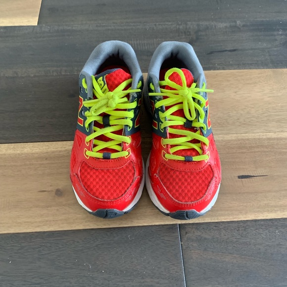 Boys Red And Neon Sneakers | Poshmark
